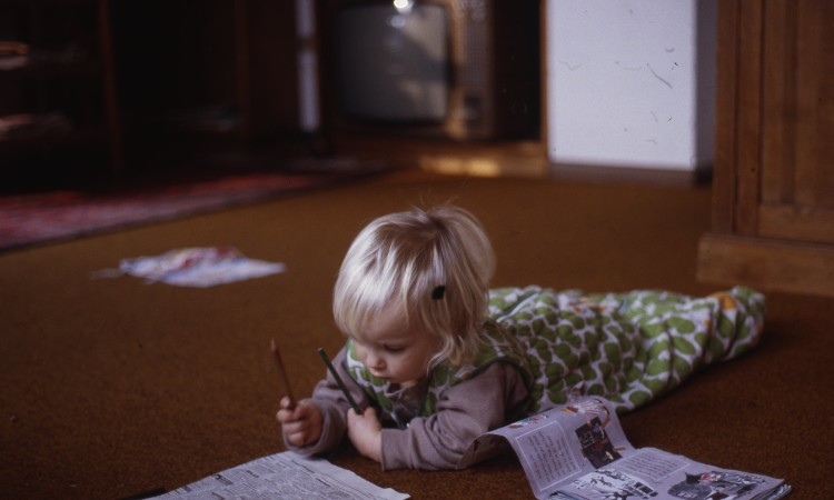 Lesen ist babyleicht - Bild privat (c) 1984