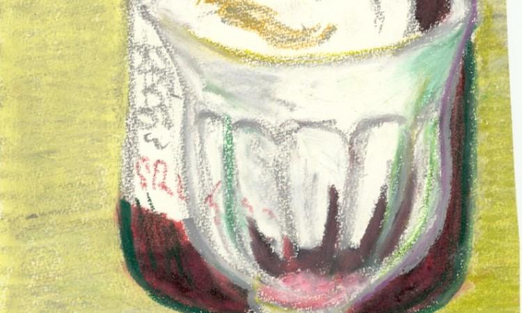 Südtiroler Vernatsch mit Glas (Pastell, G.J. Dekas, 1975)