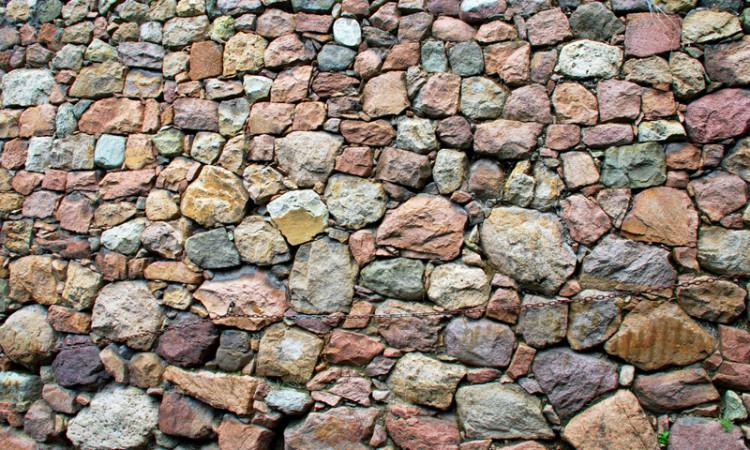 Porphyr Mauer rund Magdalena