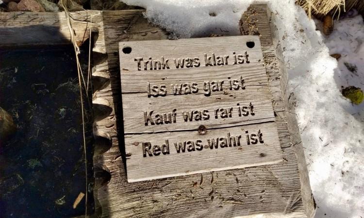 Red was wahr ist - Der Lutherspruch an der Bergquelle am Vigiljoch