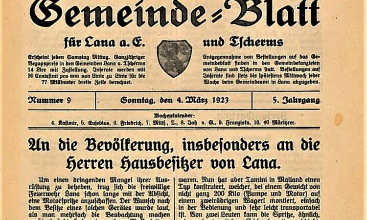 gblatt lana 1923 Kopf