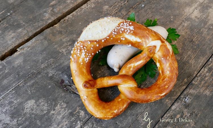 Brezn mit Weisswurst