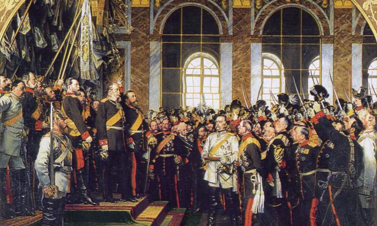 Gemälde von Anton von Werner: Die Kaiser-Proklamation in Versailles 1871