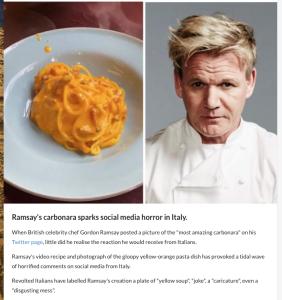 Gordon Ramsay, seine Carbonara und sein Shitstorm