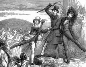 Freie Rede: Eitel oder Notwendig? Bild: The Happy Land (Detail) - D. H. Friston - Illustrated London News 1872 - Public Domain